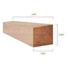 """6""""H x 6""""D x 60""""W Hand Hewn Faux Wood Fireplace Mantel, Puritan Pine"""