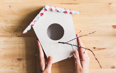 DIY: Декоративный скворечник для птиц из бумаги и картона