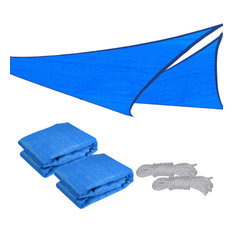 16.5' Uv Proof Triangle Sun Shade Sail Patio Outdoor Cover, Set of 2, Blue