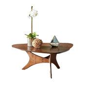 INK+IVY Blaze Triangle Wood Coffee Table in Brown Finish IIF17-0010