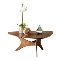 INK+IVY Blaze Triangle Wood Coffee Table in Brown Finish IIF17-0010 by GwG Outlet
