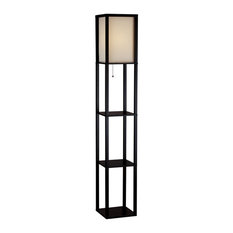 Adesso 3138-01 Wright Tall Floor Lamp - Black