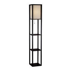 Wright Tall Floor Lamp, Black