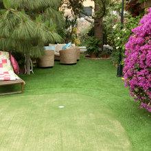 Césped artificial para jugar al golf en tu jardín