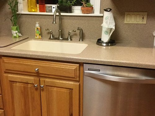 Want To Have Cabinets Painted White But Have An Almond