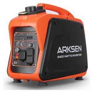 Arksen Super Quiet Portable Gas-Powered Inverter Generator, 2400w