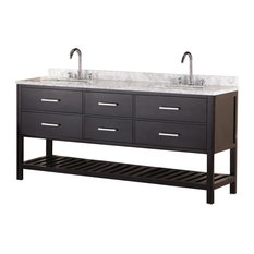 "London 72"" Double Sink Vanity Set, Espresso"