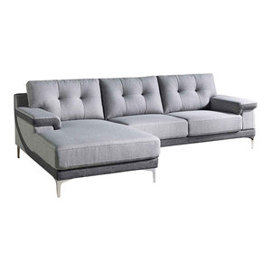 Modern Gray Fabric Tufted Hazel Sectional, Left Chaise By Zuri Furniture  Wonderful ...