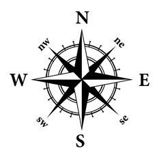 Compass Nautical Design Wall Decal