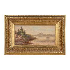 Scenic Shoreline Oil Painting