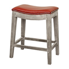 New Pacific Direct Inc. - Elmo Bonded Leather Counter Stool Mystique Gray Frame Red  sc 1 st  Houzz & Red Leather Bar Stools and Counter Stools | Houzz islam-shia.org