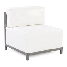 Howard Elliott Axis Chair With Cover, Titanium Frame, Atlantis White