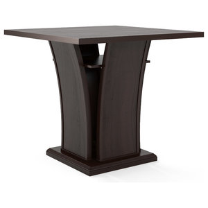 Modern 40 Inch High Square Dining Table Transitional