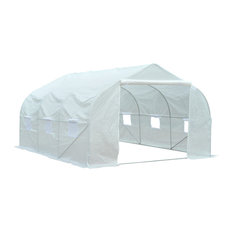 Outsunny 11.5'x10'x7' Outdoor Portable Walk-In Tunnel Greenhouse with Windows