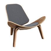 Walnut Shell Chair, Mid Cool Gray