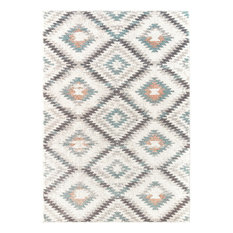 Desert Series Moroccan Tribal Soft Touch Area Rug By Rugs America, Sunset, 5'x7'