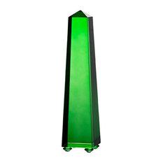 """Alighieri Obelisk Accent, Green, 2.5""""x2.5"""""""