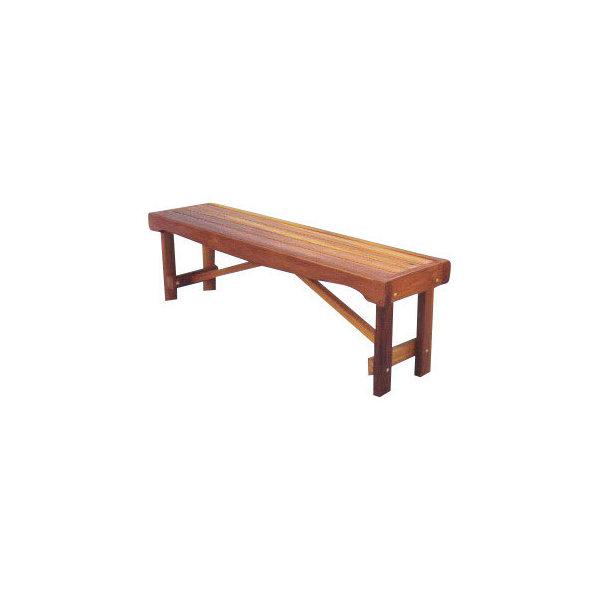 Backless Garden Bench Seat, 5'