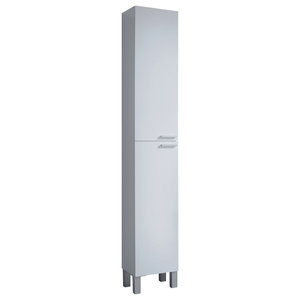 Koncept Column Bathroom Cabinet, White