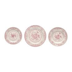 Rose Dinner Set, 18 Pieces