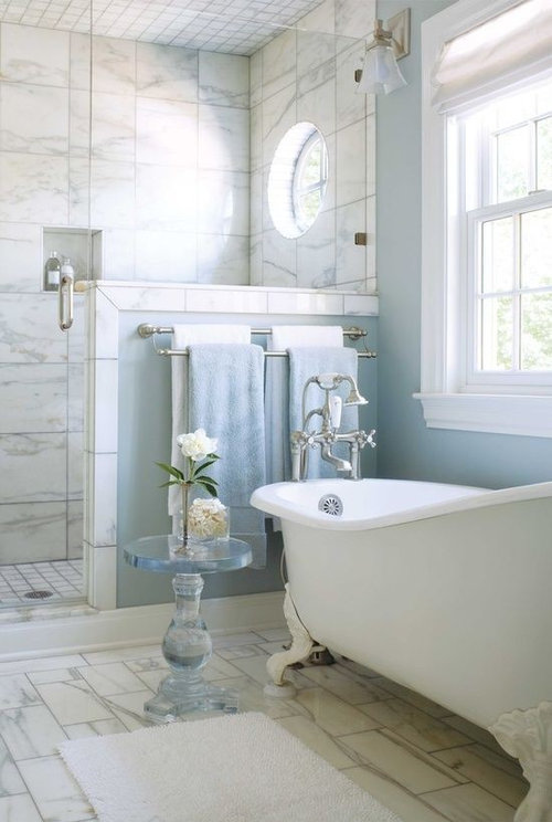 Separate tub or tub inside shower enclosure