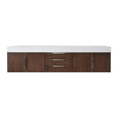 "Mercer Island 72"" Coffee Oak Double Vanity"