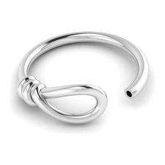 Krysaliis Sterling Silver Knot Leaf Ring- Set of 2