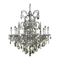 9710 Athena Collection Hanging Fixture, Clear, Elegant Cut