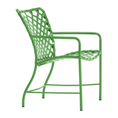 Sidmouth Vinyl Lace Armchair, Bright Green Strap, Bright Green