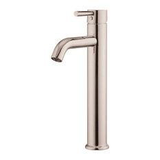 """Vanity Art Single-Handle Faucet, Brushed Nickel, 12.5"""""""