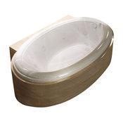 "Venzi Vino 36""x60"" Oval Soaking Bathtub, Reversible Drain Placement"