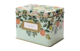 Citrus Floral Tin Recipe Box