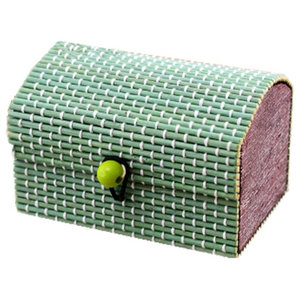 be10a1ab2 Set of 5 Creative The Green Treasure Chest, Pattern Bamboo Curtain Jewelry  Box