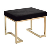 ACME Boice Ottoman in Black Fabric and Champagne