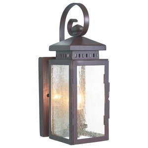 Traditional Style Wall Lantern, Olde Bronze