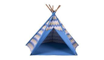 Stripe Cotton Canvas Tepee, Blue