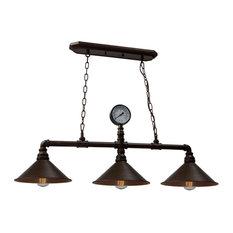 Revival 3 Light Chandelier in Authentic Rust