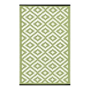 Nirvana Indoor/Outdoor Rug, Leaf Green and Ivory, 90x150 cm