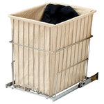 Rev-A-Shelf - Pullout Wire Hamper - Another option for storing dirty clothes. The Pullout Wire Hamper is available in four sizes and is easily removable for carrying to the laundry room. The HRV Series features full-extension slides and easy installation with just four screws.                                                                                                                                                                          � (1) Chrome wire hamper with metal frame, liner and mounting hardware