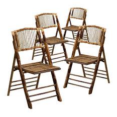 American Champion Bamboo Folding Chairs, Set of 4