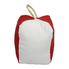 """Small Square Buoy Red Indoor/Outdoor Pillow, 6""""x10"""""""