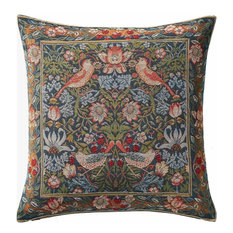 Charlotte Home Furnishings - Birds Face to Face II European Cushion - Decorative Pillows