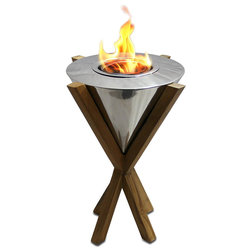 Contemporary Tabletop Fireplaces by Home Clever, Inc.