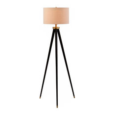 MOD   Christina 3 Way Bronze And Brass Tripod Floor Lamp, Bulb Included