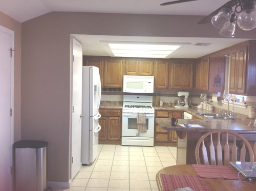 Updating Kitchen Need Ceiling And Lighting Ideas To Get Rid Of The - Kitchen ceiling light box