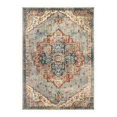 """Palmetto Living by Orian Alexandra King Fisher Pale Blue Area Rug, 6'7""""x9'6"""""""