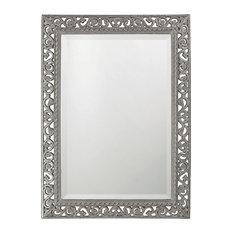 Howard Elliott Rectangle Bristol Glossy Mirror, Nickel