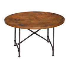 """Burlington Dining Table With 48"""" Round Copper Top"""