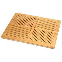 Oceanstar Bamboo Mat With Non-Slip Rubber Feet