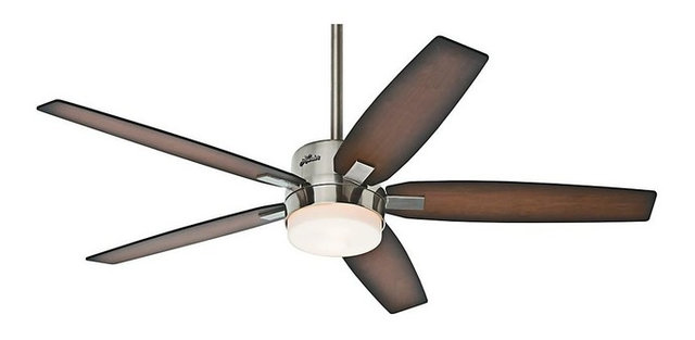 Windemere 2-Light Indoor Ceiling Fans, Brushed Nickel - Transitional ...